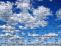 Sky  from puzzle Stock Photography