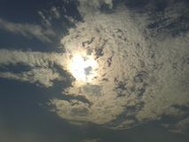 Sky at rage. Clouds forming a shape Stock Image