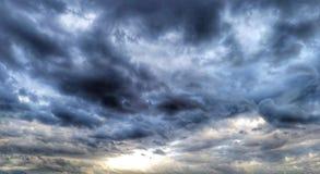 Sky before rain at Adriatic sea royalty free stock photo