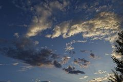 Sky with rain clouds before the storm. Background of storm clouds before a thunder-storm royalty free stock photos