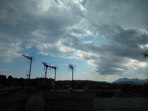 Sky. After rain in Corfu Stock Image