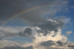 Sky with a Rainbow Stock Image