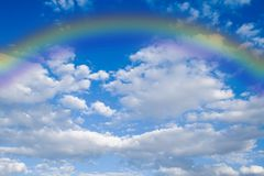 Sky and rainbow Stock Image