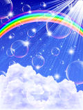Sky rainbow background Stock Photos