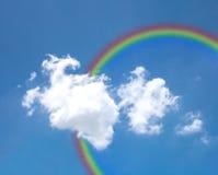 Sky with rainbow Royalty Free Stock Photos
