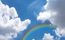Sky with rainbow Stock Photos