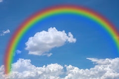 Sky with rainbow, natural Royalty Free Stock Photos