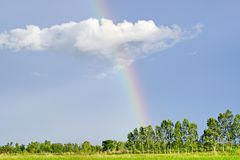 Sky with Rainbow stock photography