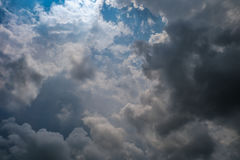 The sky on a raining day. Natural photo background Stock Photography