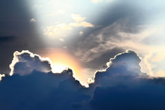 Sky with rays Royalty Free Stock Image