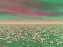 Sky red and green Royalty Free Stock Photo