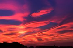 Sky, Red Sky At Morning, Afterglow, Atmosphere royalty free stock photography