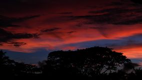 Sky, Red Sky At Morning, Afterglow, Atmosphere stock photo