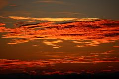 Sky, Red Sky At Morning, Afterglow, Horizon stock image