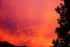 Sky, Red Sky At Morning, Afterglow, Nature royalty free stock photos