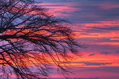 Sky, Red Sky At Morning, Afterglow, Sunrise royalty free stock photos