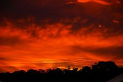 Sky, Red Sky At Morning, Afterglow, Sunset royalty free stock photos