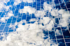 Sky reflect from glass Royalty Free Stock Photos