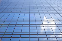 Sky reflected in facade of Delftse Poort in Rotterdam Royalty Free Stock Images