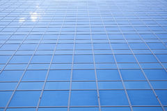 Sky reflected in facade of office building in Rotterdam Stock Image