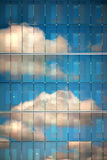 Sky reflected in glass Royalty Free Stock Photos