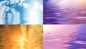 Sky reflected in water Stock Photos
