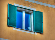 Sky reflected in a window Royalty Free Stock Image