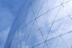 Sky reflecting in building. Building details reflecting blue sky Royalty Free Stock Photos