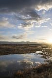 Sky reflecting into the great salt lake Royalty Free Stock Photo