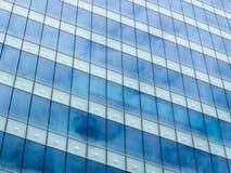 Sky Reflecting On Glass Stock Image