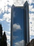 Sky reflecting in a skyscraper, Trianon, in Frankfurt, Germany Royalty Free Stock Photo