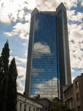 Sky reflecting in a skyscraper, Trianon, in Frankfurt, Germany Royalty Free Stock Photos