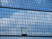 Sky reflection. On a modern architecture structure Stock Images