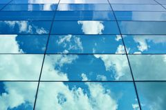 Sky reflection in the building's windows Stock Photo