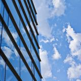 Sky reflection in the building's windows Royalty Free Stock Photo