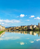 Sky reflection in Florence stock image