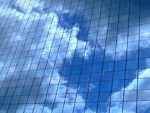 Sky reflection horizontal Royalty Free Stock Images