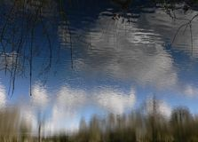 Sky Reflection. Sky reflecting on Pioneer Meadows pond Stock Photography
