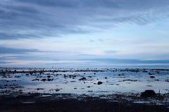 Sky reflection on the surface of the sea. Solovetsky island, White Sea Beluga cape Stock Image