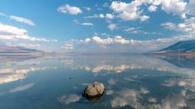 Sky reflection, Walker Lake, Nevada stock photo