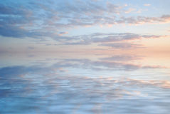 Sky reflection in water. Background Royalty Free Stock Images