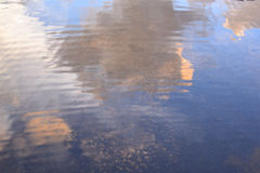 Sky Reflection on water Royalty Free Stock Photos
