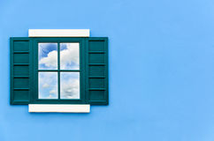 Sky reflection in the window glass Royalty Free Stock Images