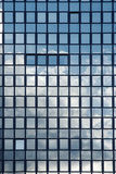 Sky reflection in windows of an office building Royalty Free Stock Photos