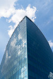 Sky reflections in glass walls of building. Office building located in Warsaw, Wiatraczna Stock Image