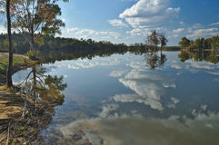 Sky reflections by the Lake Royalty Free Stock Photos