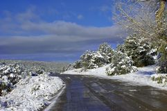Backroad on Sandia Mountainside Royalty Free Stock Photography