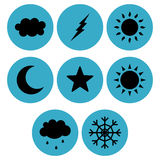 Sky related icon designs Stock Photography