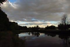 Sky. Reservoir Colorado clouds trees Stock Photos