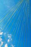 Sky and ribbons by celebration. Stock Photography